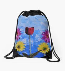 Daytime Meadow Drawstring Bag