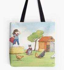 Girl in Cape Tote Bag