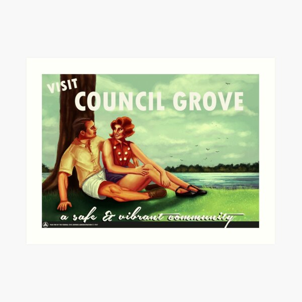 Visit Council Grove Art Print