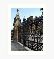 Wrought Iron Fence at Parliament Buildings, Ottawa, Canada Art Print
