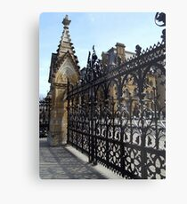 Wrought Iron Fence at Parliament Buildings, Ottawa, Canada Metal Print