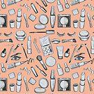 Tarnished Dolls Makeup Pattern Kawaii by KahlenDeveraux