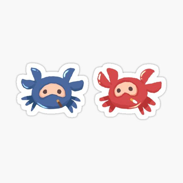 RED & BLU Spycrab Stickers Sticker
