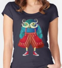 My Owl Red Pants Women's Fitted Scoop T-Shirt