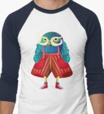 My Owl Red Pants Men's Baseball ¾ T-Shirt