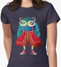 My Owl Red Pants Women's Fitted T-Shirt