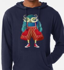 My Owl Red Pants Lightweight Hoodie