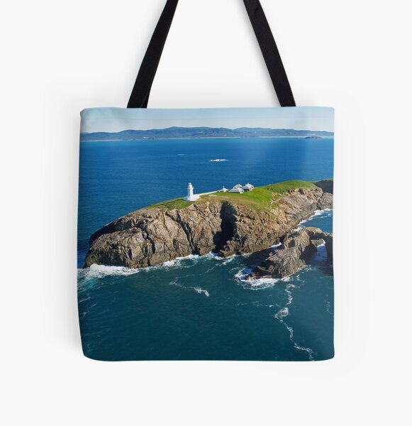 South Solitary Island Lighthouse All Over Print Tote Bag