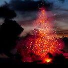 Kilauea Volcano at Kalapana 3a1 by Alex Preiss