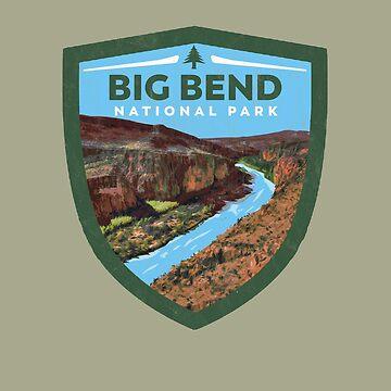 Big Bend National Park Vintage Badge Design   by robotbasecamp