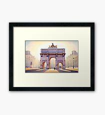 """Riding the Light"" Carousel in Paris Watercolor  Gerahmtes Wandbild"