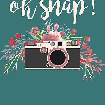 Oh Snap Photography Gift Vintage Camera Photographer Gift For Women by HappyEdenCo