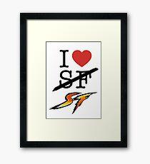 I <3 SF (Street Fighter) Framed Print