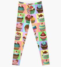 Cupcake Pattern Leggings