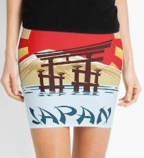 Japan Travel poster Mini Skirt