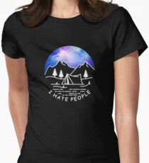 I love Camping Hate People Women's Fitted T-Shirt