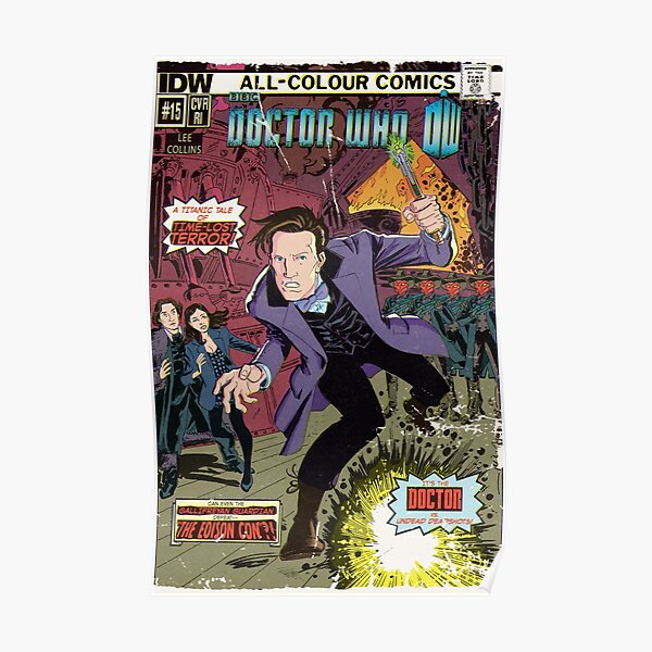 Doctor Who Comic Book Cover Poster