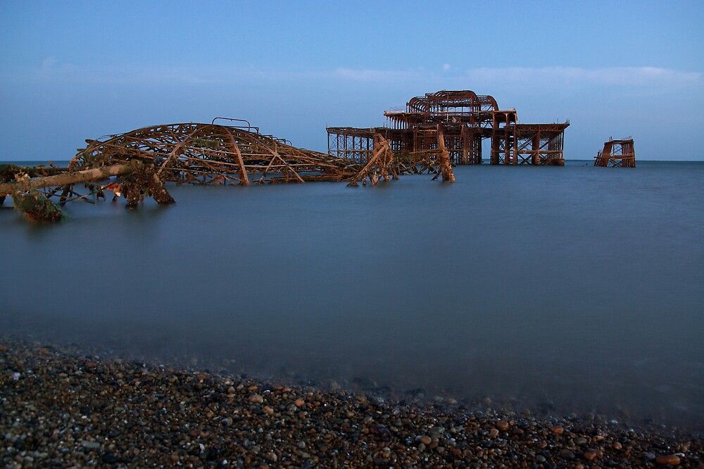 West Pier at Night, Brighton by ludek