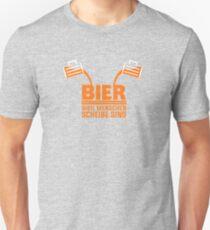 BIER WEIL MENSCHEN Scheiße SIND! Unisex T-Shirt