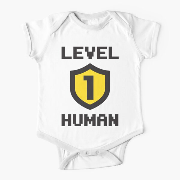 Level 1 Human Short Sleeve Baby One-Piece