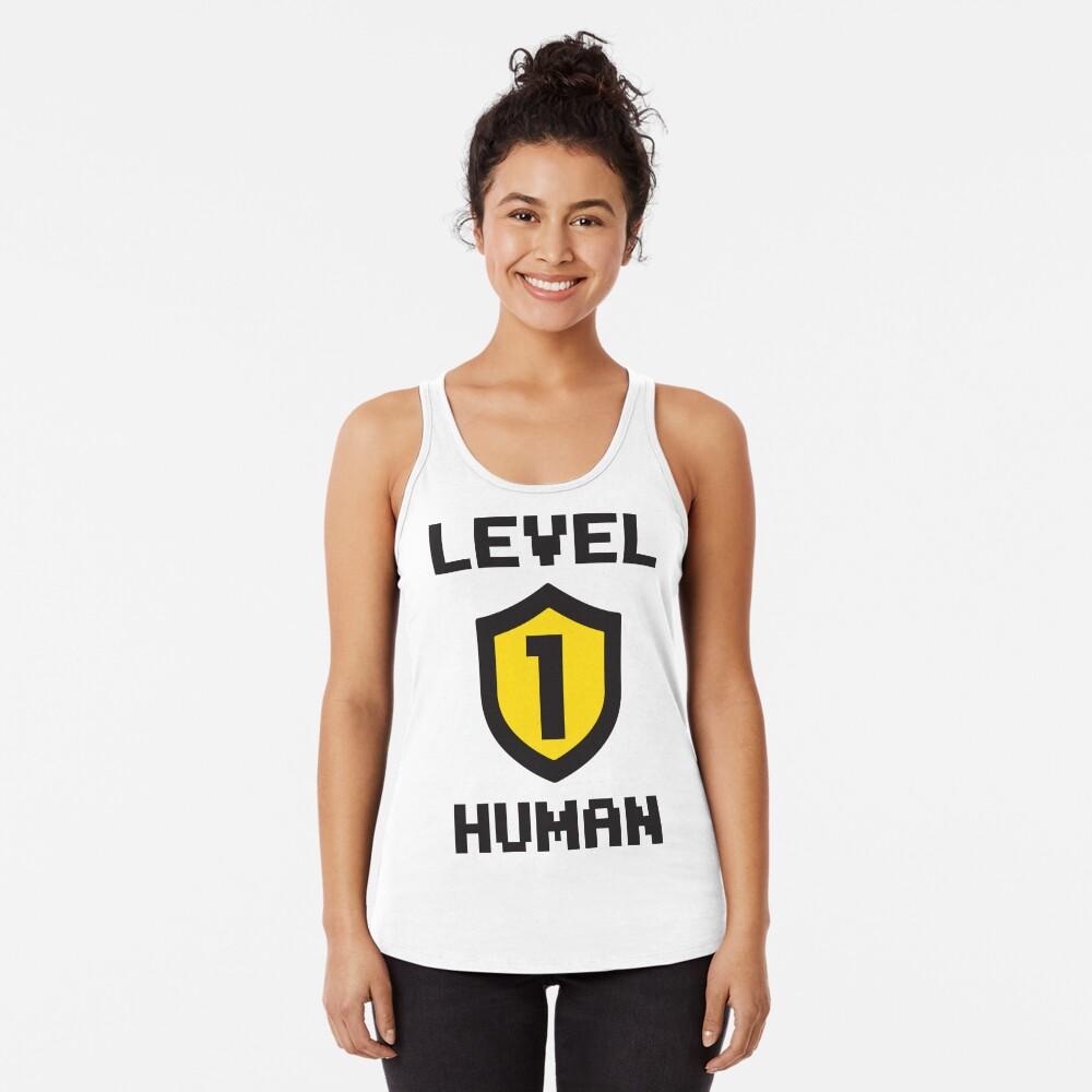Level 1 Human Racerback Tank Top