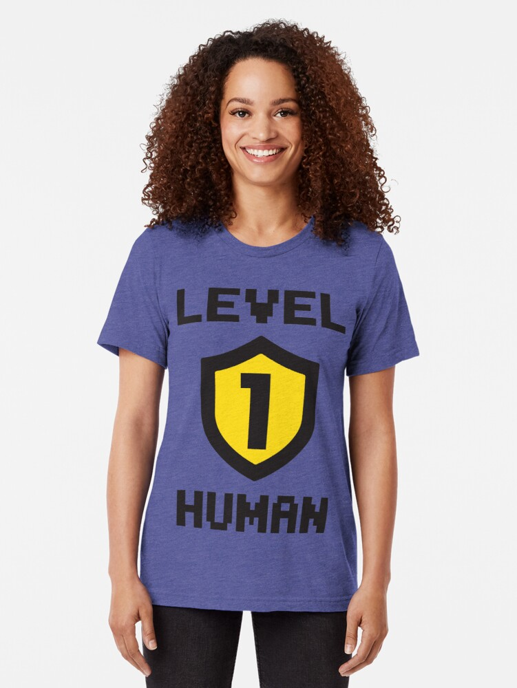 Vista alternativa de Camiseta de tejido mixto Nivel 1 humano