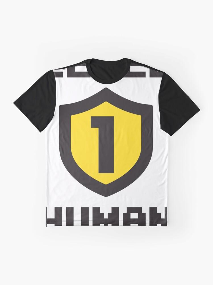 Vista alternativa de Camiseta gráfica Nivel 1 humano