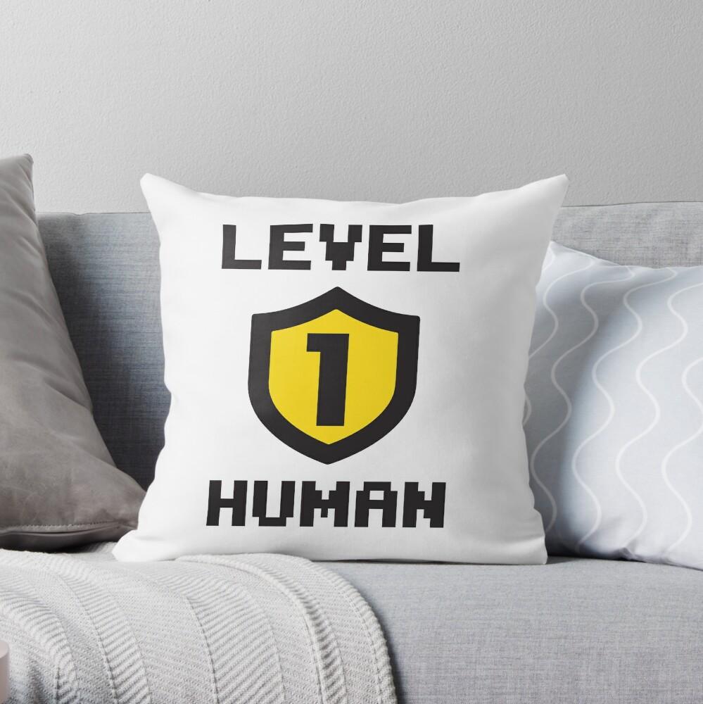 Level 1 Human Throw Pillow