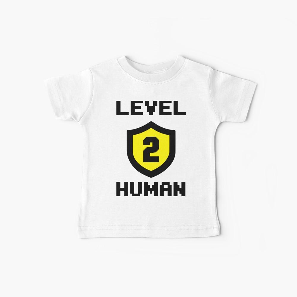 Nivel 2 Humano Camiseta para bebés