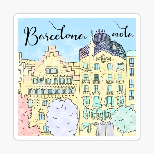 Barcelona mola by Alice Monber Sticker
