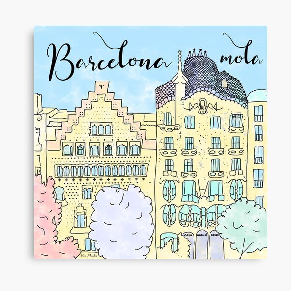Barcelona mola by Alice Monber Canvas Print