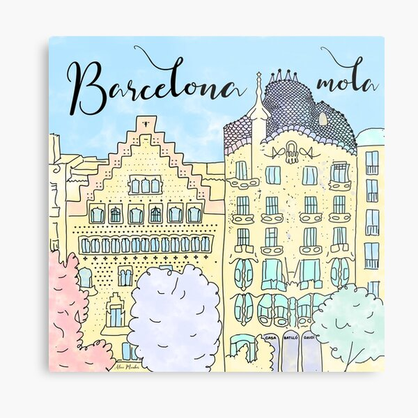 Barcelona mola by Alice Monber Metal Print