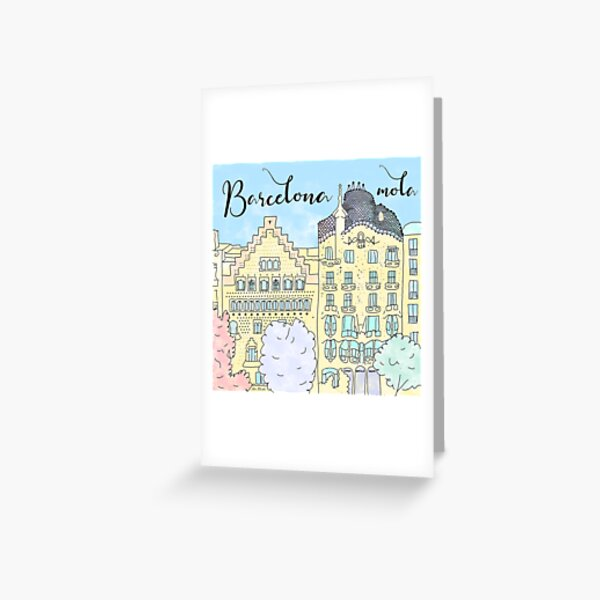Barcelona mola by Alice Monber Greeting Card