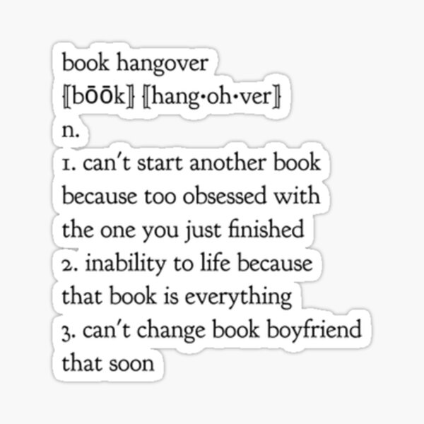 book hangover Sticker