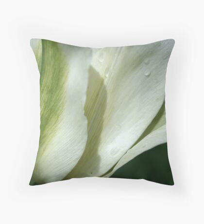 Spring Green Tulip Throw Pillow