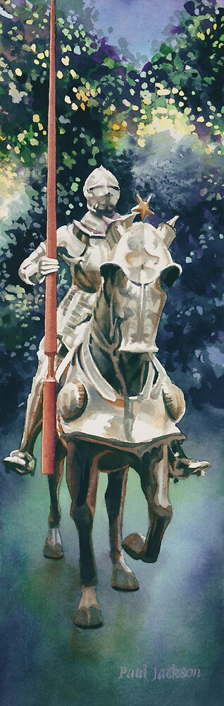 """Shining Armor"" Watercolor by Paul Jackson"