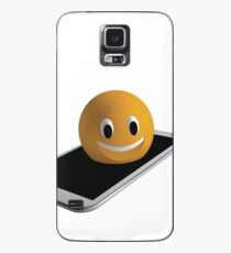 Handy mit Emoticon Hülle & Klebefolie für Samsung Galaxy