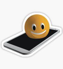 Handy mit Emoticon Sticker