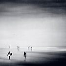 Strangers on a Beach - Abstract seascape by Dirk Wuestenhagen