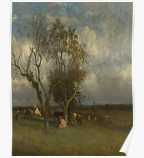 Landscape with Cows-Jules Dupre Poster