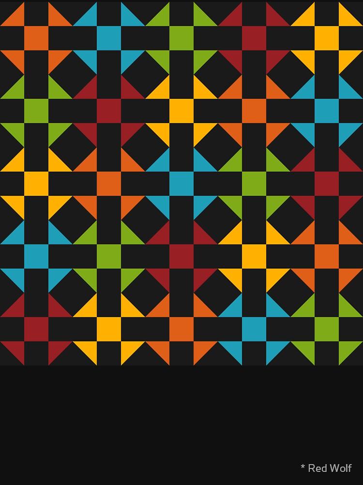Geometric Pattern: Quilt: Winter by redwolfoz