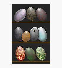 Shelf full of Dragon eggs Photographic Print