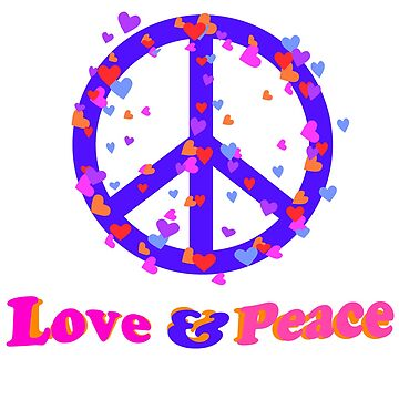 love and peace by colorkitchy