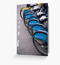 Boris Bikes Greeting Card