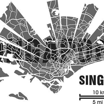 Singapore map by UrbanizedShirts