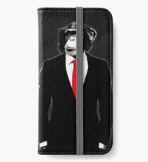 Domestizierter Affe iPhone Flip-Case/Hülle/Klebefolie