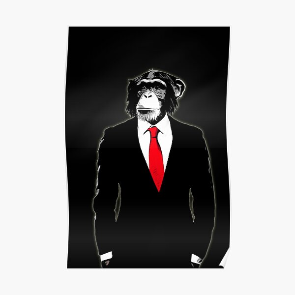 Domesticated Monkey Poster
