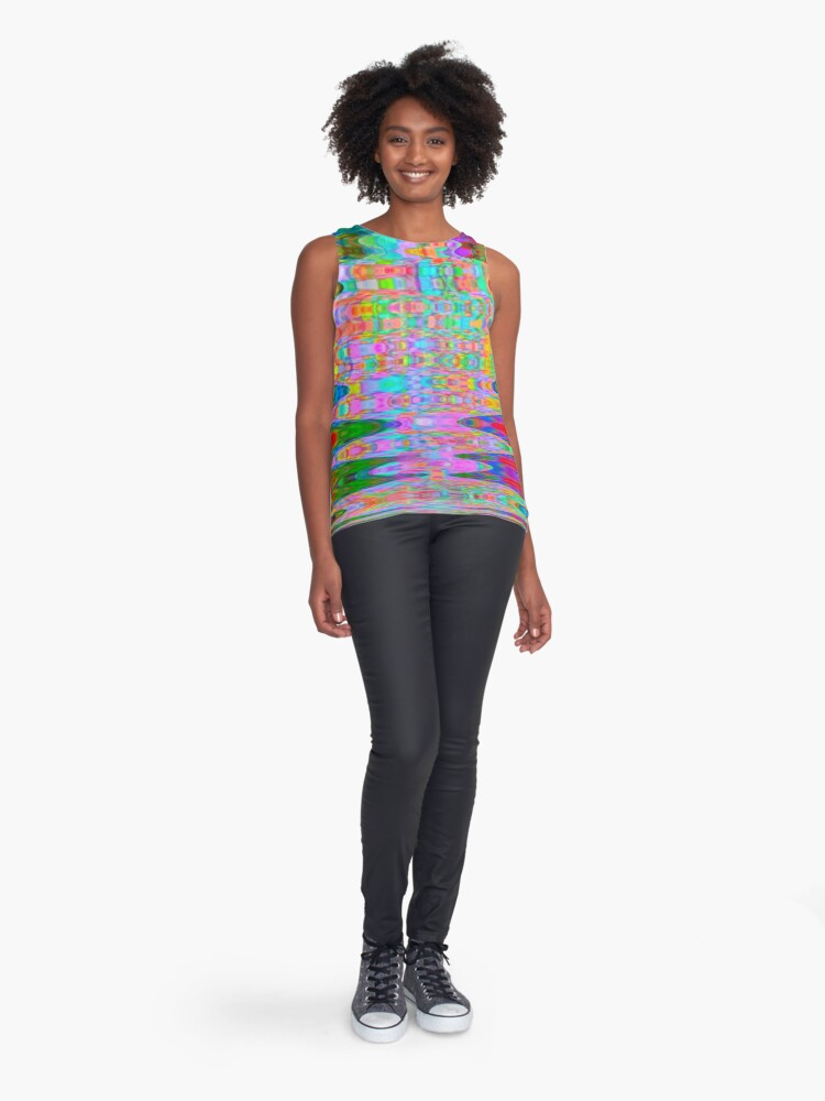 Alternate view of Abstract Reflections Sleeveless Top