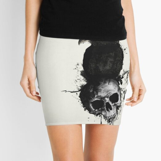 Raven and Skull Mini Skirt