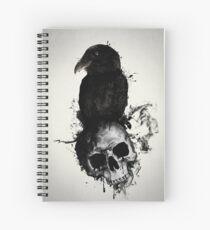 Cuaderno de espiral Cuervo y cráneo